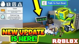 *TICKETS* NEW CURRENCY?! ARMOR & ACCESSORIES, TRAVELING BEARS!! (Roblox Bee Swarm Simulator Update)