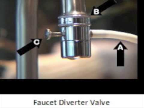 Faucet Diverter Valve for Water Ionizers - YouTube
