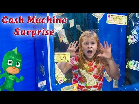 Assistant Pretend  Play in the Cash Machine Vault  with PJ Masks and Paw Patrol