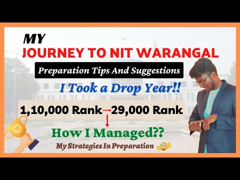 My Journey to NIT Warangal | No Coaching till 10th | JEE Preparation Tips | Long-term | Ep-113 | SCM