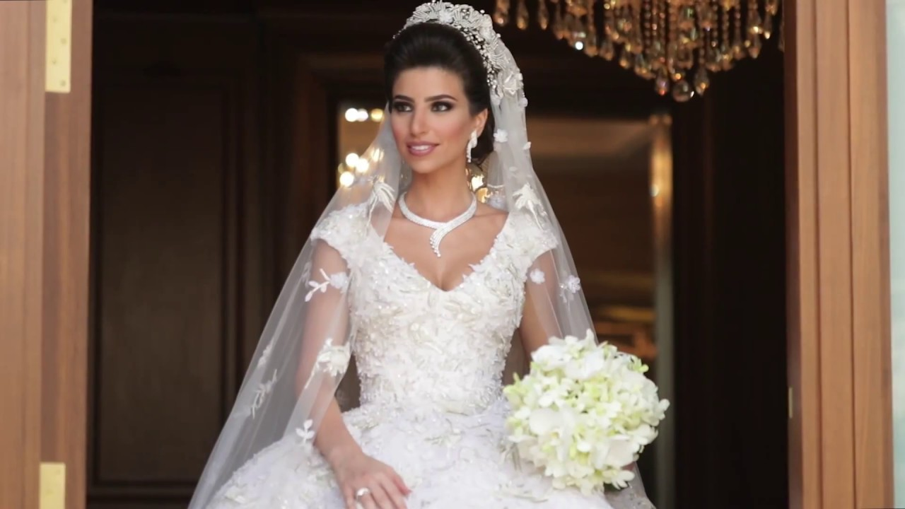 Beautiful Bride Wearing An Astonishing Rami Kadi Gown With The Longest Train You Ll Ever See
