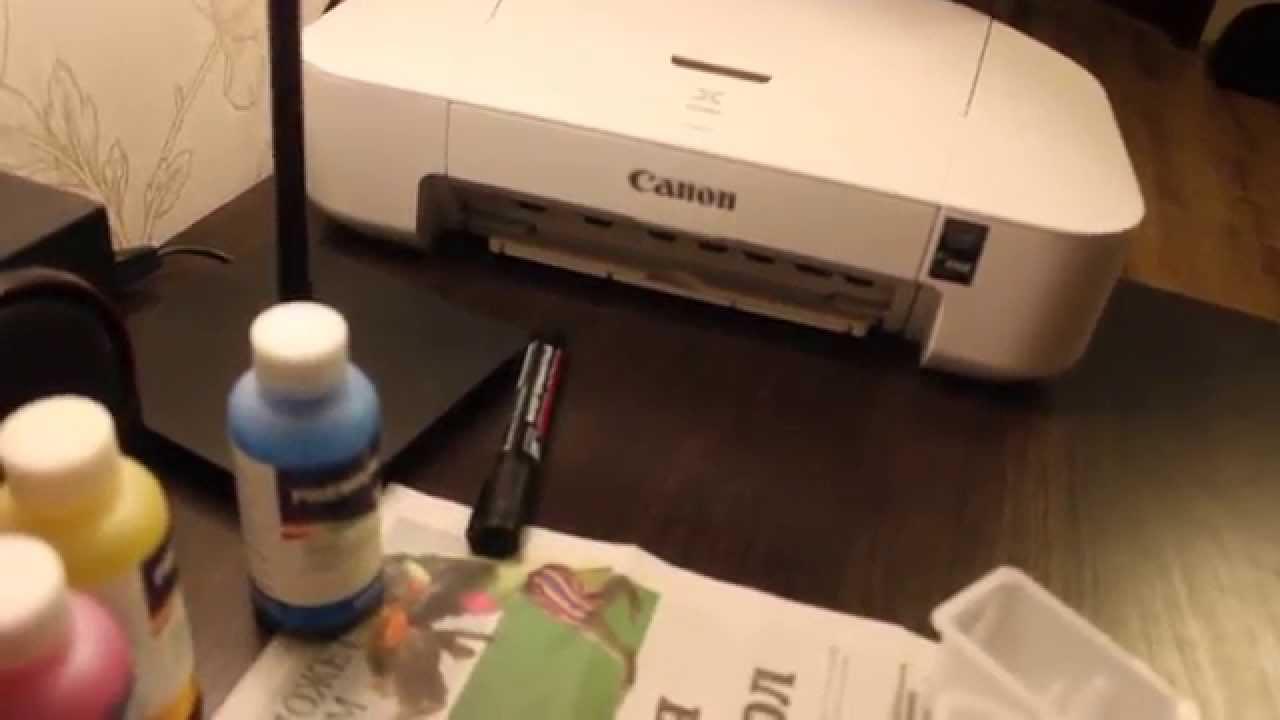 схема подключение снпч на принтер ip2700