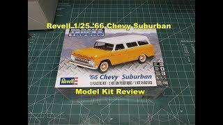 Revell 1/25 '66 Chevy Suburban 85-4409 Model Kit Review NEW 2017!