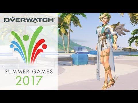 overwatch:-summer-games-2017-skins,-voice-lines,-emotes-&-sprays!-hd