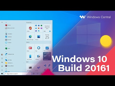 Windows 10 Build 20161 - Start Menu, Notifications, Taskbar, Tablet Mode + MORE