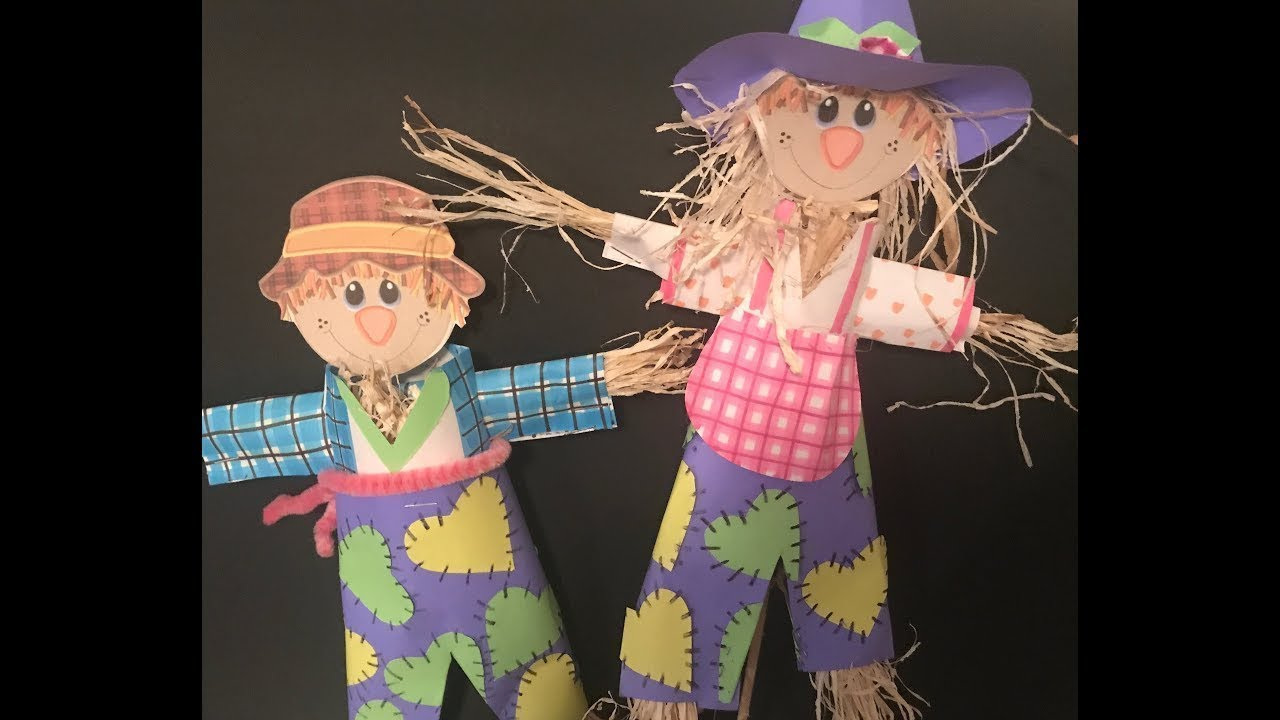 How To Make A Diy Scarecrow Out Of Paper Youtube