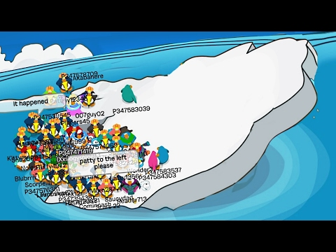 TIPPING THE ICEBERG! (Club Penguin Funny Moments)