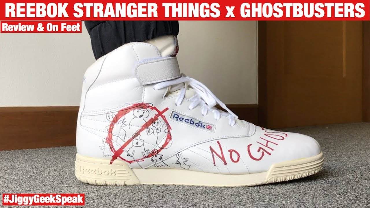 a4f19fb1ab9 Bait x Stranger Things x Ghostbusters x Reebok Ex-O-Fit Clean Hi ...