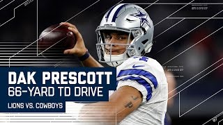Dak Prescott Guides Cowboys on 66-yard TD Drive! | Lions vs. Cowboys | NFL Week 16 Highlights