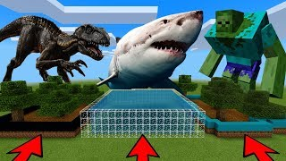 DO NOT CHOOSE THE WRONG FARM in Minecraft PE (Mutant Zombie, Indoraptor & Shark)