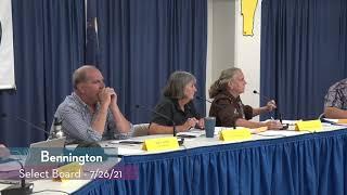 Bennington Select Board // 07/26/21