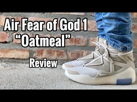 """Nike Air Fear of God 1 """"Oatmeal"""" Review & On Feet"""