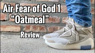 """Download Mp3 Nike Air Fear Of God 1 """"oatmeal"""" Review & On Feet"""