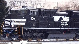 Brand New Norfolk Southern SD70ACe Engines Sister Units on 524 Coal Train