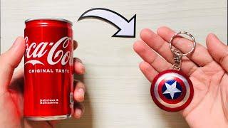 Captain America Shield Key chain Using Soda Can
