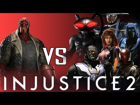 Thumbnail: Hellboy VS DLC Intro Dialogues (Darkseid/BlackManta/RedHood/SubZero/Starfire/Raiden) | INJUSTICE 2