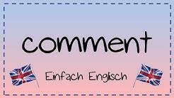 comment schreiben - einfach erklärt | Einfach Englisch