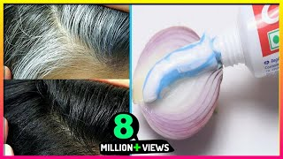 White Hair To Black Hair Naturally in Just 4 Minutes Permanently ! 100% Works !! Pure Beauty Tips