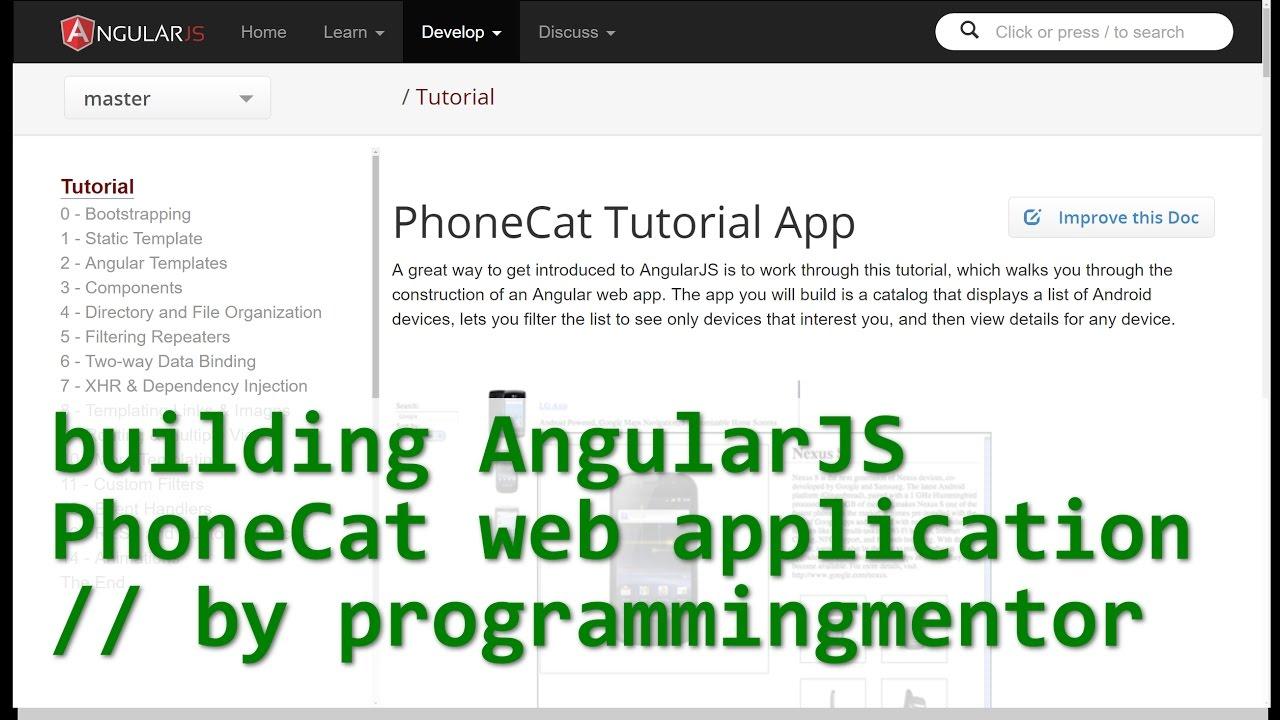 Angularjs phonecat tutorial youtube angularjs phonecat tutorial baditri Choice Image