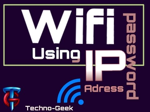 How to find wifi password using IP address!!