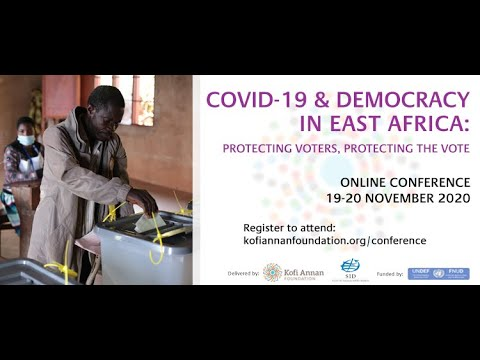 COVID-19 & DEMOCRACY IN EAST AFRICA CONFERENCE:  19.11.2020 - Welcome Remarks by Elhadj As Sy