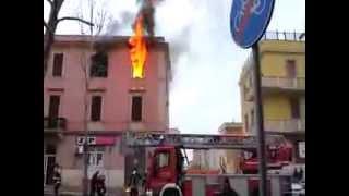 Incendio viale Baccelli - Civitavecchia 10 Gennaio 2014