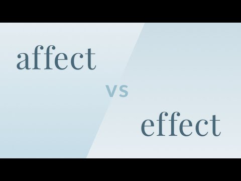 Affect vs. Effect - Merriam-Webster Ask the Editor - YouTube