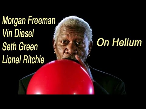 Morgan Freeman, Vin Diesel, Seth Green, Lionel Ritchie on Helium