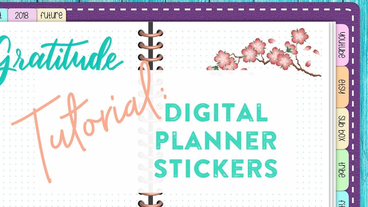 Tutorial Using Boho Berry Digital Downloads In Your Digital Planner
