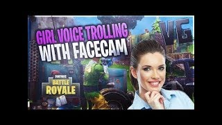 FAKE GIRL MOANING FOR GUY ON FORTNITE!!! VOICE TROLLING LOL
