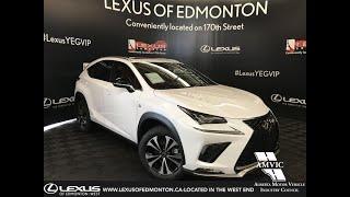 White 2019 Lexus NX 300 F Sport Series 2 Review Edmonton Alberta - Lexus of Edmonton New