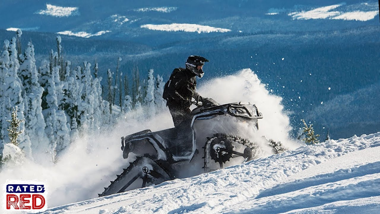 The Apache 360 Track System Can Turn a Can-Am Four-Wheeler into a Snowmobile