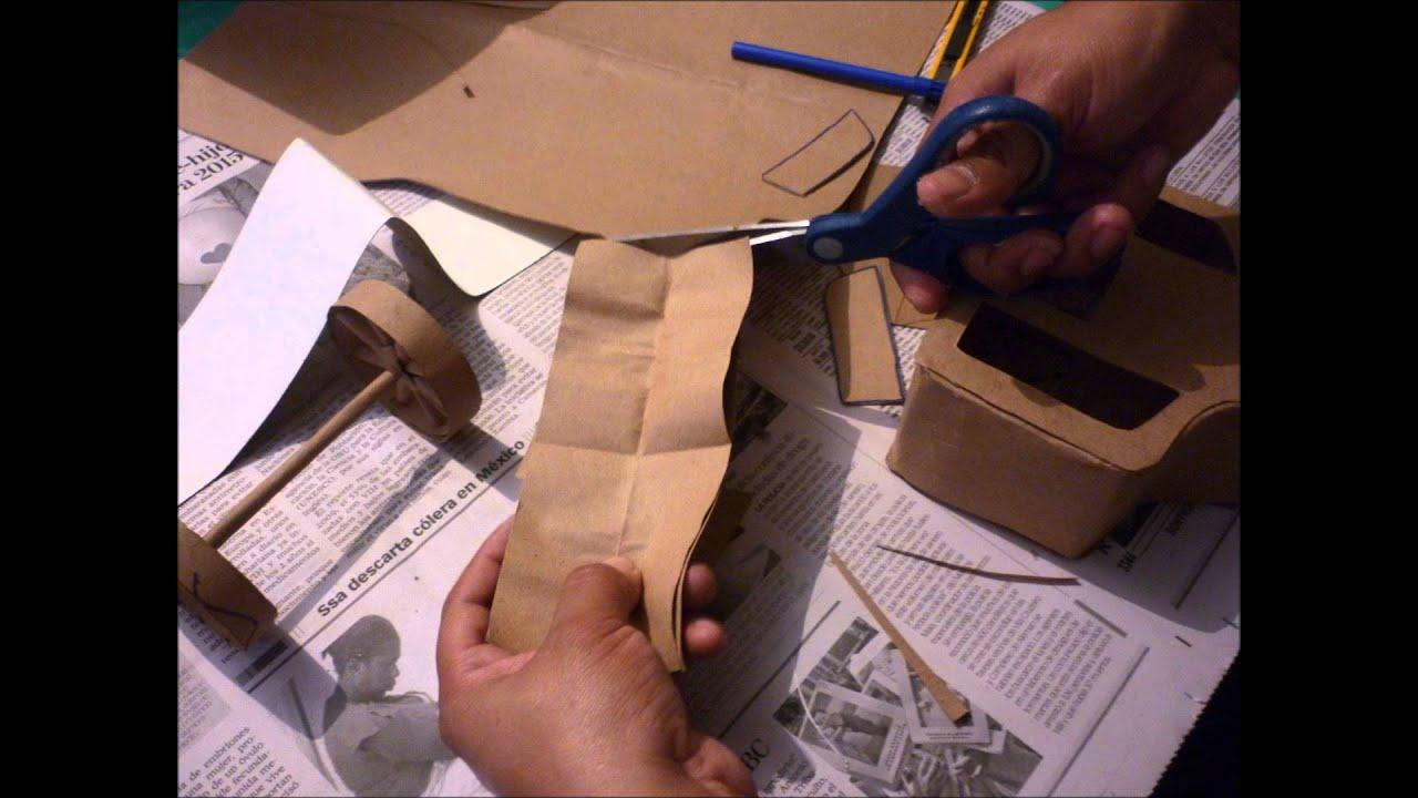 Cómo hacer una carreta de papel paso a paso - YouTube