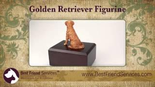 Golden Retriever Figurine Urn