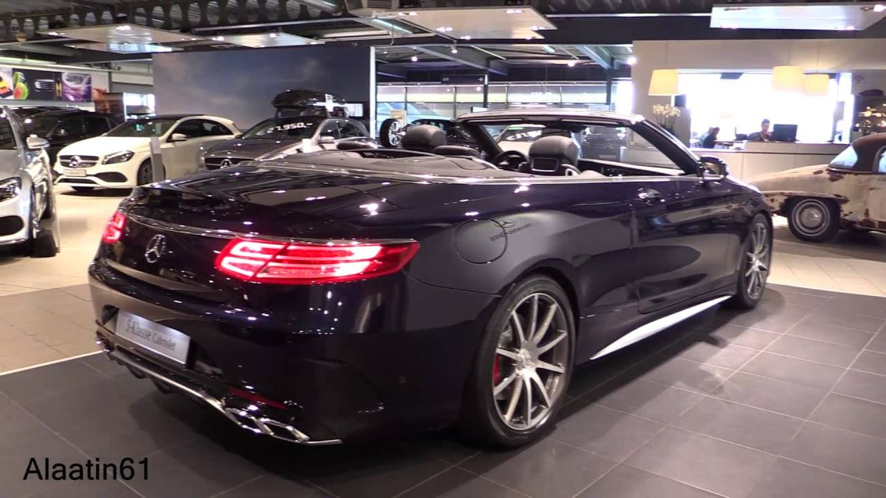 2017 mercedes benz s63 amg convertible start up exhaust sound in depth review interior. Black Bedroom Furniture Sets. Home Design Ideas