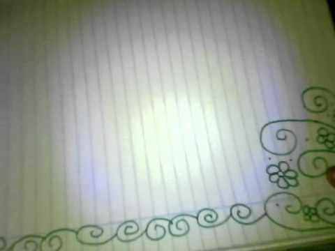 Decoracion de hoja de cuadernos youtube for Decoraciones para hojas