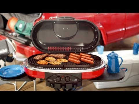 how to connect propane tank to coleman roadtrip grill