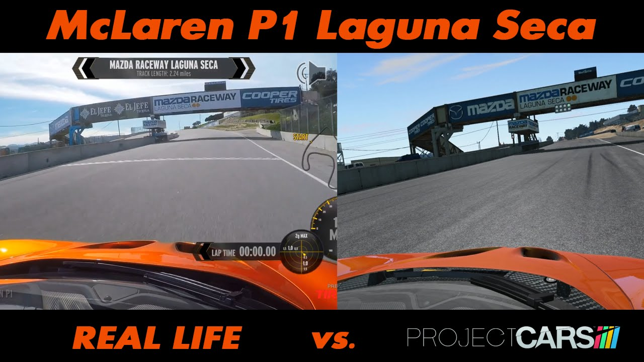 Project cars vs real life mclaren p1 laguna seca youtube - Project cars mclaren p1 ...