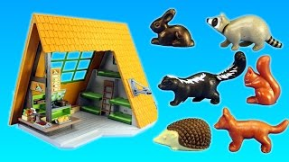New 2017 Playmobil Camping Lodge Building Playset and wild animals Build Review - Animal Toys Video