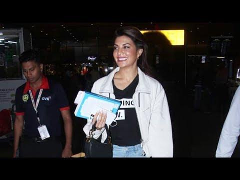 Salman Khan's Co-star Jacqueline Fernandez Spotted At Airport