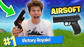 1 DEATH = 1 SHOT WITH AIRSOFT GUN in FORTNITE BATTLE ROYALE
