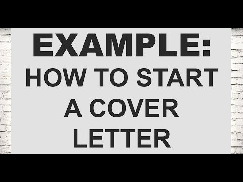 Example: How To Start A Cover Letter (Legal Cover Letters)