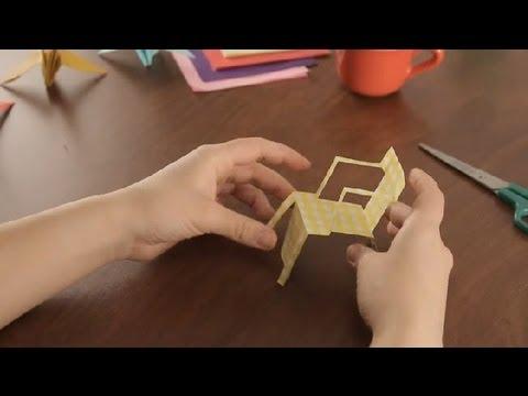 Como hacer sillas de playa de papel proyectos de arte en for Sillas para armar y recortar