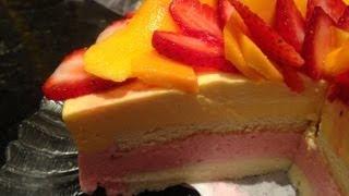 How To Make Strawberry Mango Mousse Cake Recipe 士多啤梨芒果慕士蛋糕