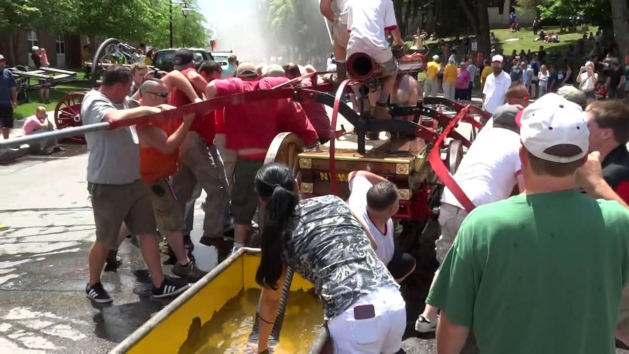 Hand Pump Fire Engine Competition Bath Heritage Days Bath