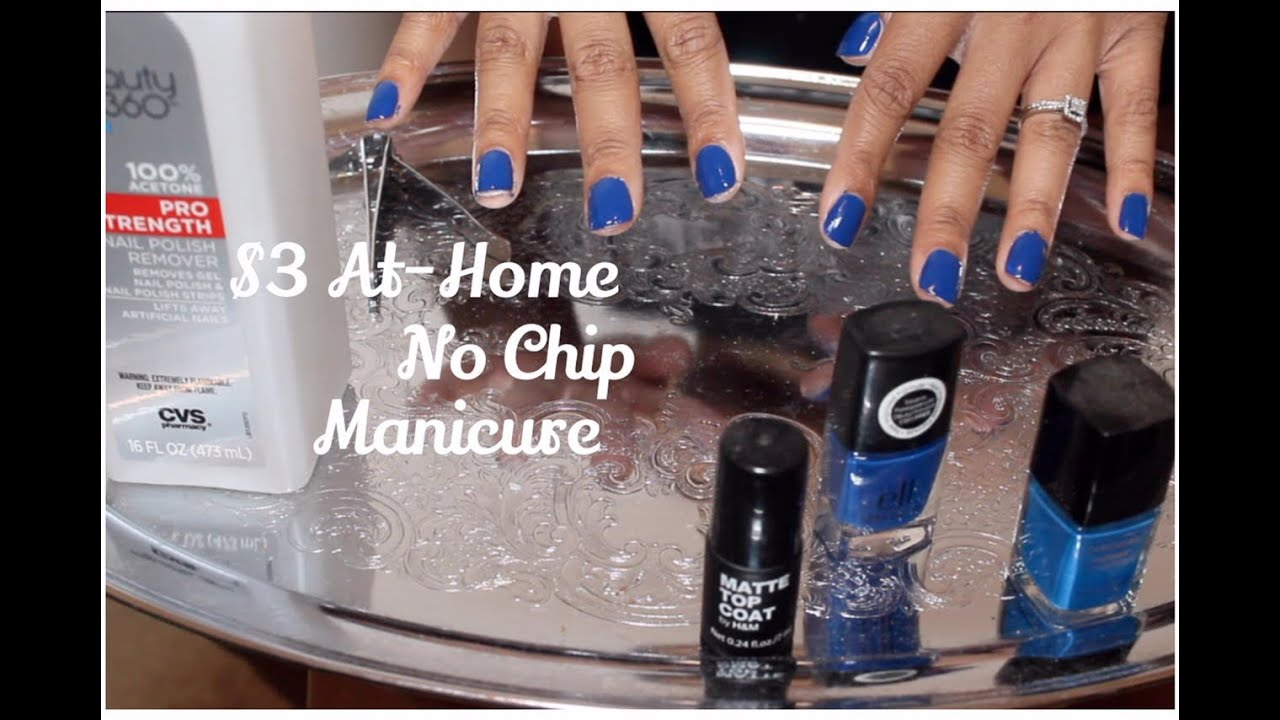 How To |$3 No Chip Manicure - YouTube