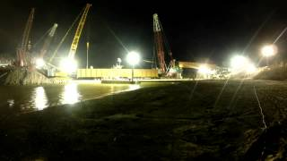 Time-lapse video of Ponca City rail bridge construction