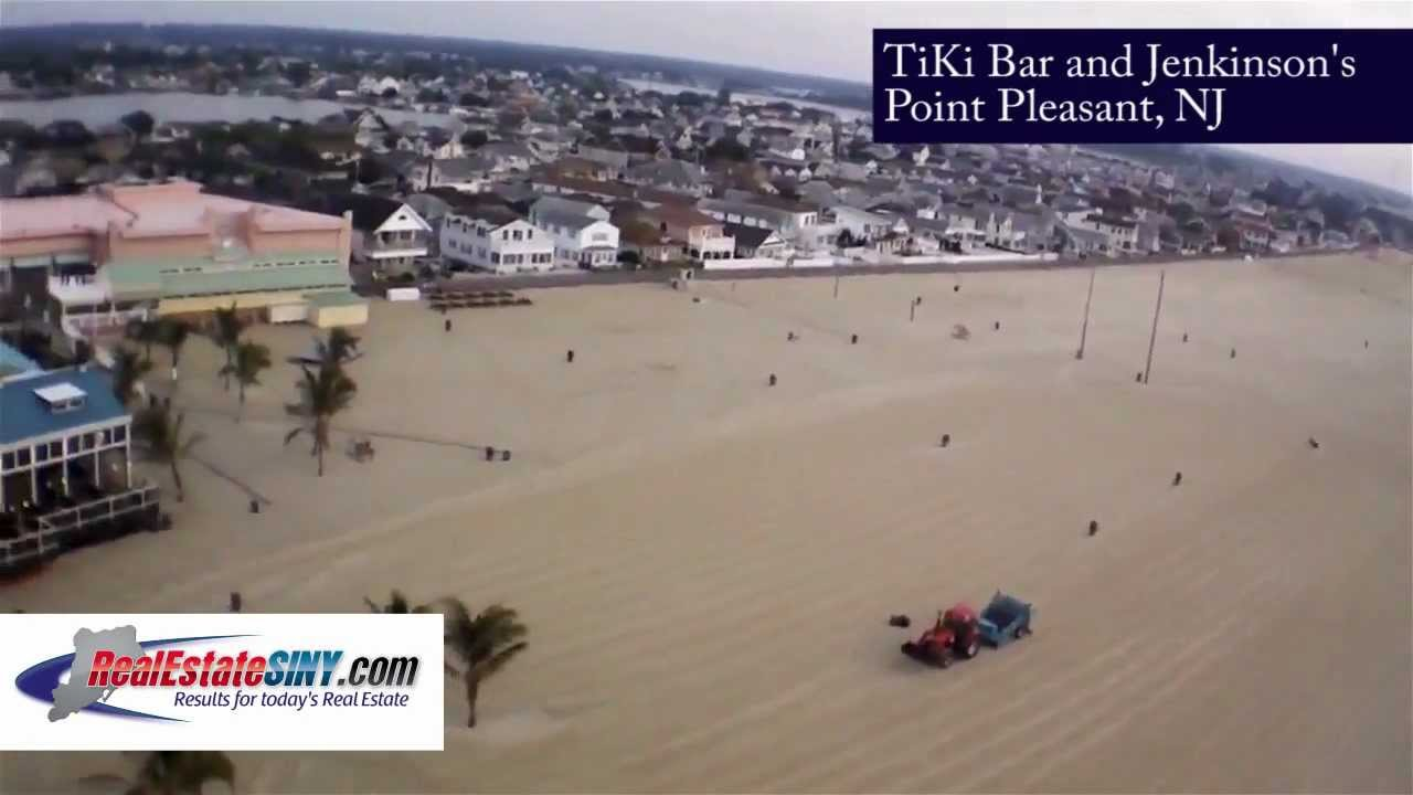 From Above Point Pleasant Beach New Jersey Shore Tiki Bar And Jenkinson S Youtube