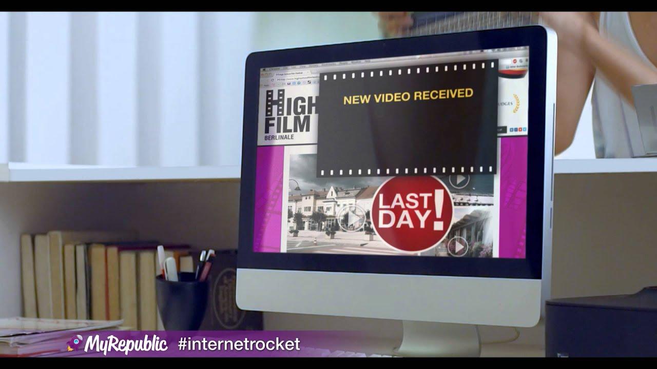 MyRepublic Indonesia - Upload Film dengan kecepatan tinggi
