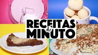 DESAFIO! 4 RECEITAS MAIS DELICIOSAS E FÁCEIS DO MUNDO COM APENAS 3 INGREDIENTES! | KIM ROSACUCA
